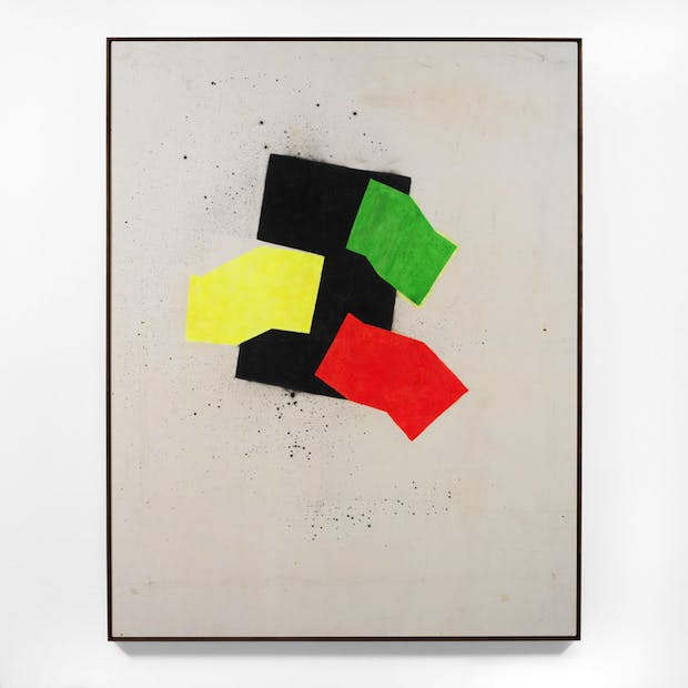 Red, Green and Yellow, (1967), John Latham.