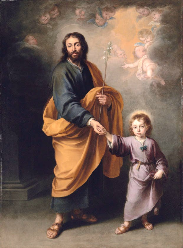 St Joseph and the Christ Child (c. 1655–60), Bartolomé Esteban Murillo. Christie's London (£3m–£5m)