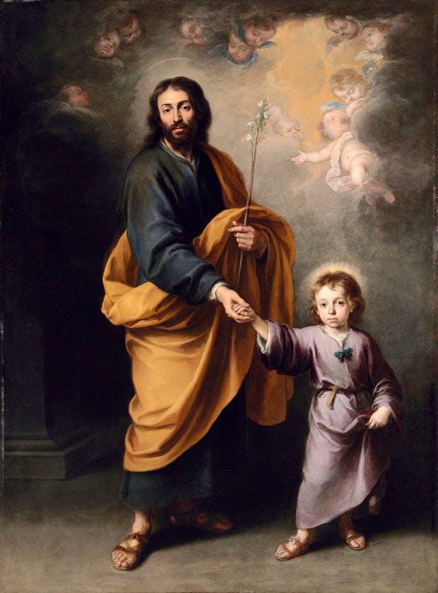 St Joseph and the Christ Child (c. 1655–60), Bartolomé Esteban Murillo. Christie's London (£3m–£5m)
