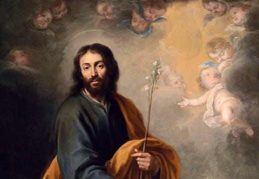 St Joseph and the Christ Child (c. 1655-60), Bartolomé Esteban Murillo. Christie's London (£3m–£5m)