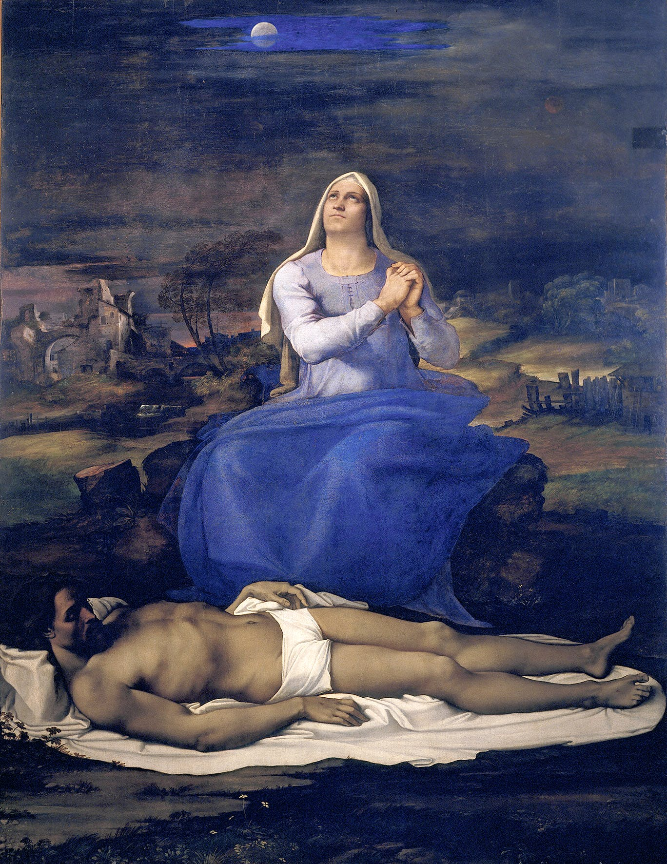 Lamentation over the Dead Christ ('Pietà') (c. 1512–16), Sebastiano del Piombo. Museo Civico, Viterbo