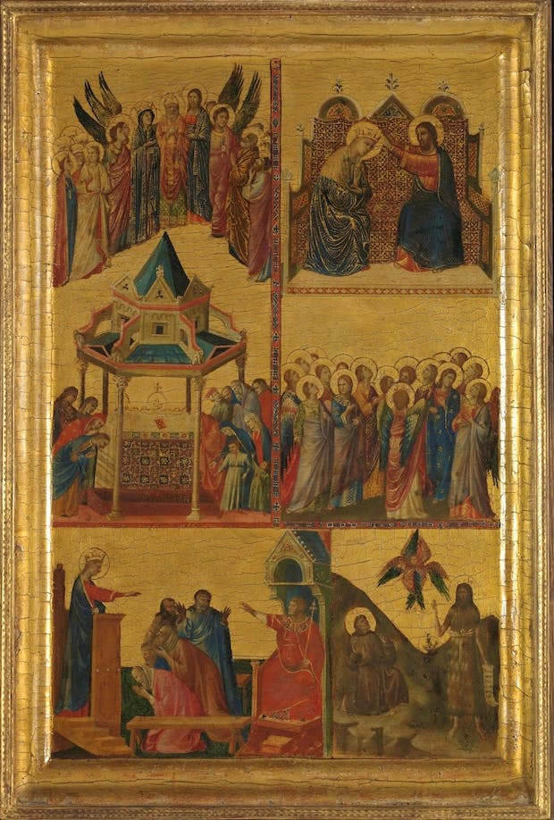 Scenes from the Lives of the Virgin and other Saints, (c. 1300-05), Giovanni da Rimini.