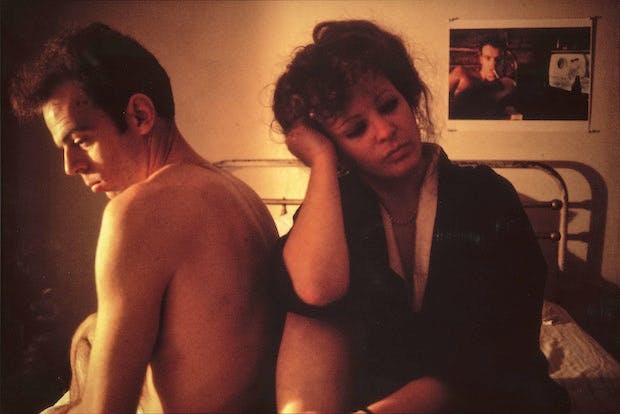 Self-Portrait in Kimono with Brian, NYC (1983), Nan Goldin. © Nan Goldin, Courtesy Matthew Marks Gallery Photo: Lee Stalsworth