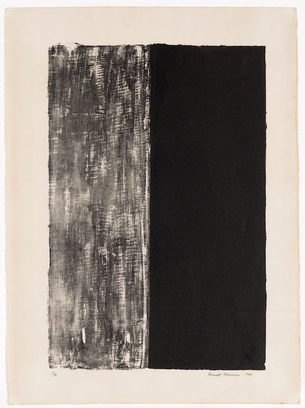 Untitled, (1961), Barnett Newman. Kunstmuseum Basel - Gift of the Artist, Photo: Kunstmuseum Basel - Martin P. Bühler