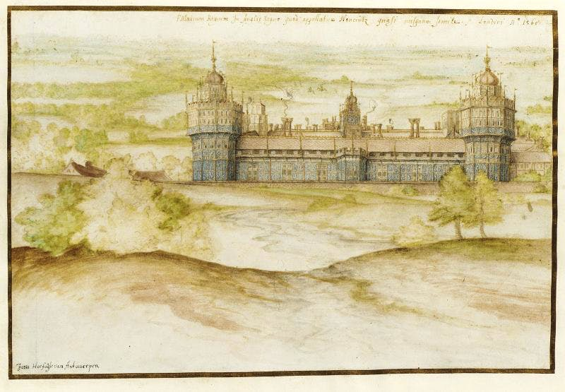 Nonsuch Palace (1568), Joris Hoefnagel. © Victoria and Albert Museum, London