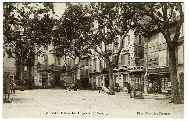 The Place du Forum, Arles, showing the Hotel Thévot, Van Gogh