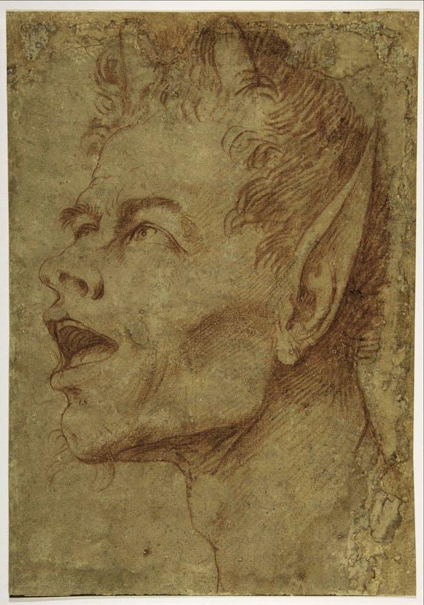 Head of a Satyr Facing Left, (c. 1625-30), Jusepe de Ribera.