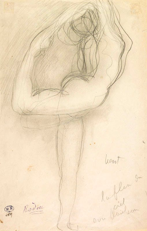 Standing Nude Holding Her Right Leg (c. 1903), August Rodin. Musée Rodin, Paris, France