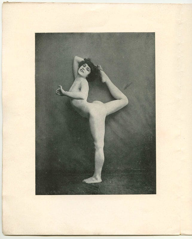 Le nu académique journal of 1905 showing the newly discovered photos of Alda Moreno in the pose of 'Dance Movement A' (30 June 1905). © Agence photographique du musée Rodin - Pauline Hisbacq
