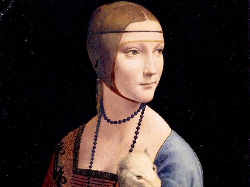 Lady with an Ermine [detail] (c.1489-90), Leonardo da Vinci. Wikimedia Commons