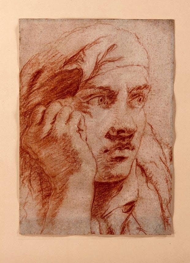 Head of a Young Man, (c. 1750-60), Giovanni Battista Tiepolo