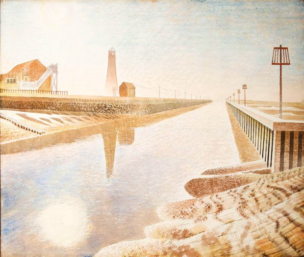 Rye Harbour, (1938), Eric Ravilious
