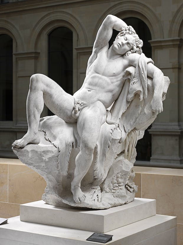 Faune endormi, dit aussi Faune Barberini (1726), Edme Bouchardon. Image © Musée du Louvre, dist. RMN-Grand Palais / Raphaël Chipault
