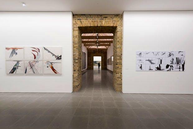 Zaha Hadid, Installation view, Serpentine Sackler Gallery, London (8 December 2016–12 February 2017) © Zaha Hadid Foundation. Image © 2016 Hugo Glendinning