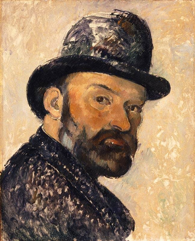 Self Portrait in a Bowler Hat (1885–86), Paul Cézanne. Ny Carlsberg Glyptotek, Copenhagen. Photo: Ole Haupt