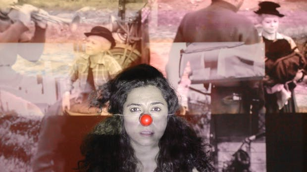 Sarah Khalil, Clown Inside Me (still), 2016. Film. Courtesy the artist, YSP and ArtRole