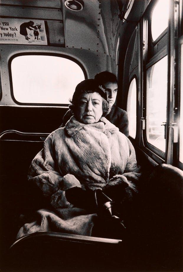 Lady on a bus, N.Y.C. 1957, Diane Arbus. Courtesy The Metropolitan Museum of Art, New York / copyright © The Estate of Diane Arbus, LLC