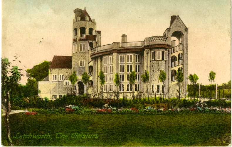 Postcard of The Cloisters, designed by William Harrison Collishaw, (c. 1907)