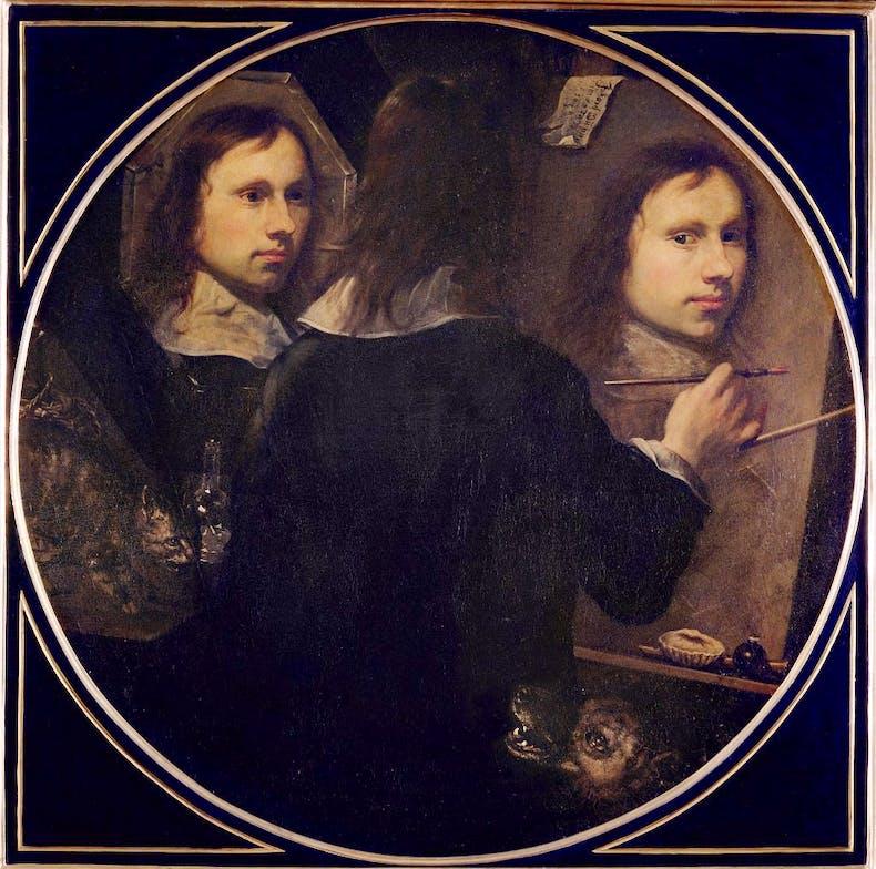 Self Portrait, , (1646), Johannes Gumpp. Galleria degli Uffizi, Florence, Italy