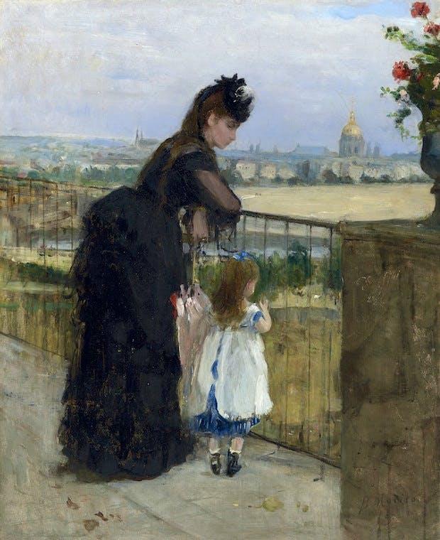 Femme et enfant au balcon (1872), Berthe Morisot. Christie's Images Ltd. 2016. Estimate: £1,500,000-2,000,000