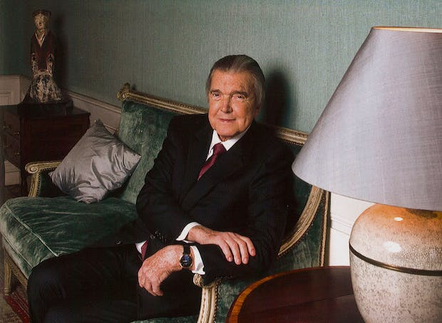 Jean Paul Barbier-Mueller at home in Geneva.