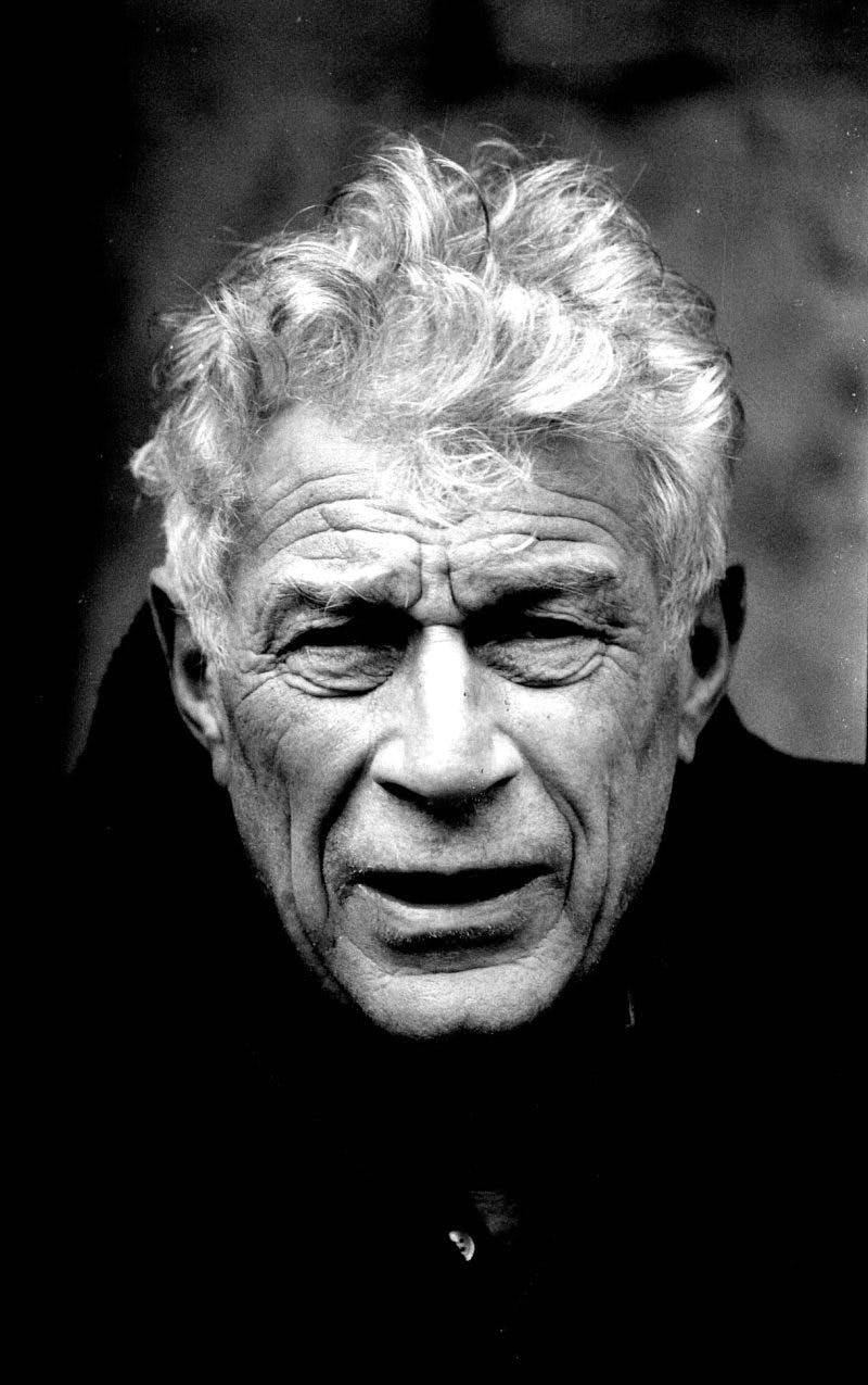 Portrait of John Berger by his longstanding collaborator, the Swiss photographer Jean Mohr. © Jean Mohr