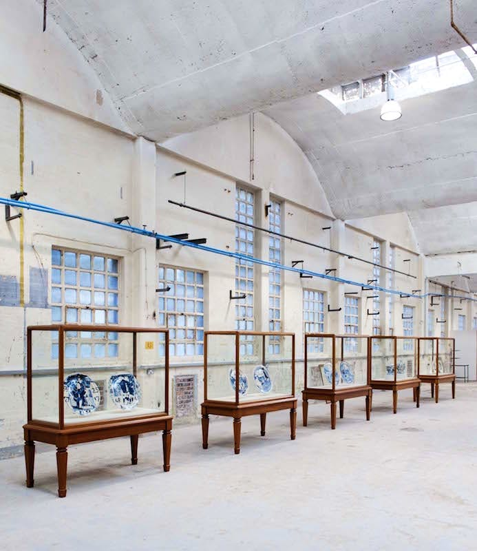 The 2011 British Ceramics Biennial in the China Hall at the Old Spode works. Photo: Joes Chester Fildes