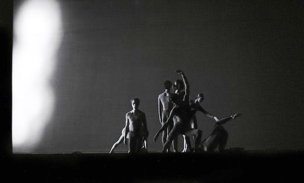 Merce Cunningham Dance Company in 'Canfield' at the Brooklyn Academy of Music, New York in 1970. Photo: James Klosty