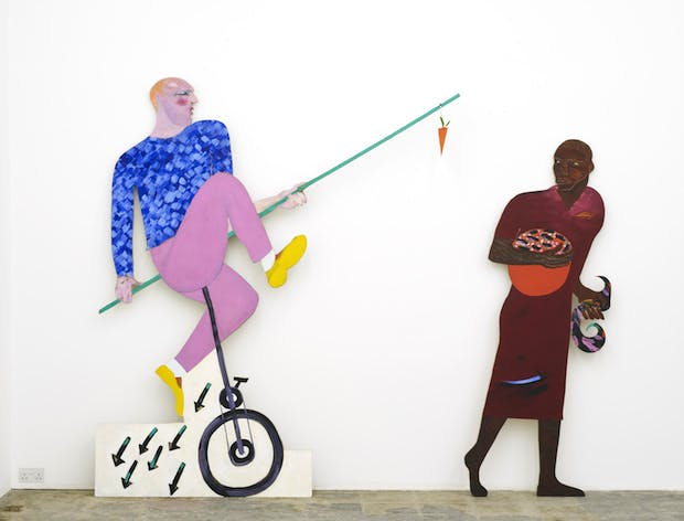 The Carrot Piece (1985), Lubaina Himid. Courtesy of the artist and Tate Collection