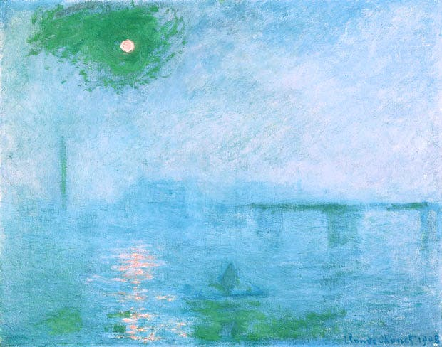 Charing Cross Bridge: Fog on the Thames (1903), Claude Monet. © President and Fellows of Harvard College
