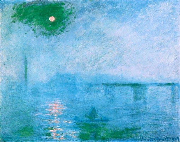 Charing Cross Bridge: Fog on the Thames (1903), Claude Monet. © President and Fellows of Harvard College