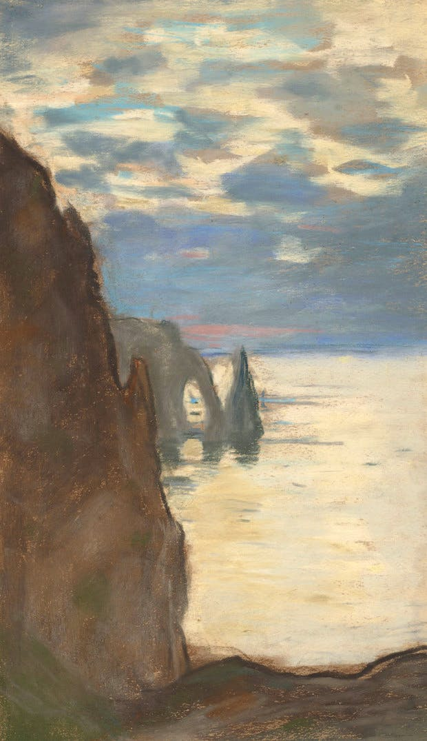 Etretat, L'Aigulle et La Porte d'Aval (c.1885), Claude Monet. Courtesy of the National Galleries Scotland