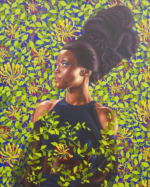 Shantavia Beale II (2012), Kehinde Wiley. © Kehinde Wiley. (Photo: Jason Wyche, courtesy of Sean Kelly, New York)