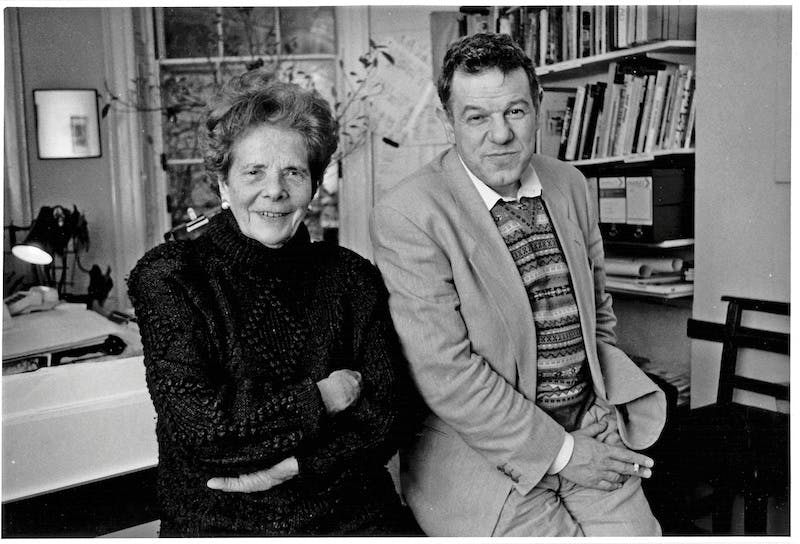 Eva and Thomas Neurath, London, 1982. Photo: Michael Woods