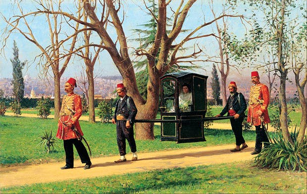 The Daughter of the English Ambassador Riding in a Palanquin (1896), Fausto Zonaro