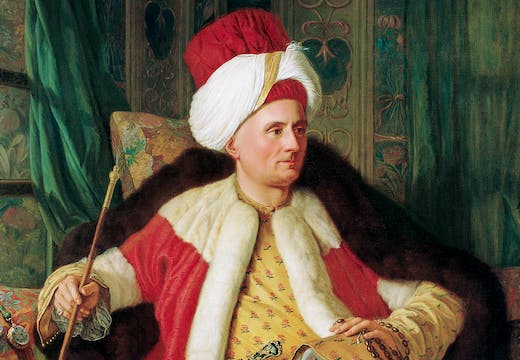 Portrait of Charles Gravier Count of Vergennes and French Ambassador, in Turkish Attire (detail; second half of the 18th century), Antoine de Favray