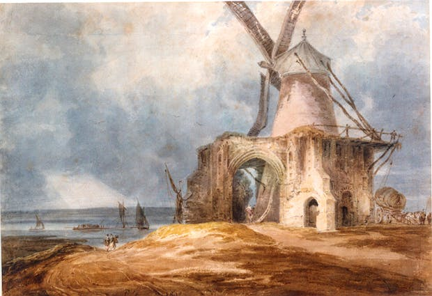 St. Benet's Abbey, Norfolk, (1802), Fancoise Louis Thomas. Courtesy of the National Trust