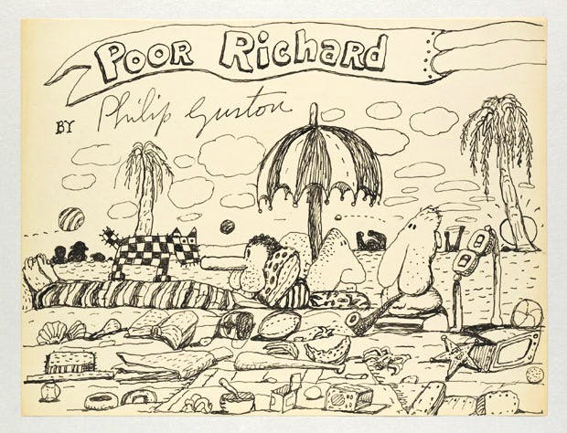 Untitled (Poor Richard) (1971), Philip Guston. Image © The Estate of Philip Guston. Courtesy Hauser & Wirth