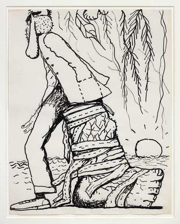 Untitled (1975), Philip Guston. Image © The Estate of Philip Guston. Courtesy Hauser & Wirth