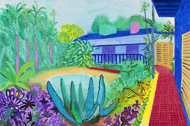 Garden (2015), David Hockney. © David Hockney / Photo Credit: Richard Schmidt