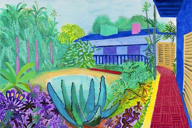 Garden (2015), David Hockney. © David Hockney / Photo Credit: Richard Schmidt