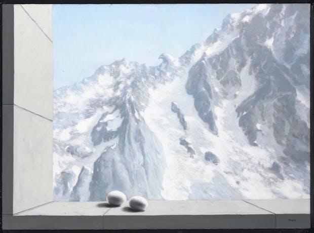 Le domaine d'Arnheim (1938), René Magritte. Christie's Images Ltd. 2016 (£6,500,000-9,500,000)