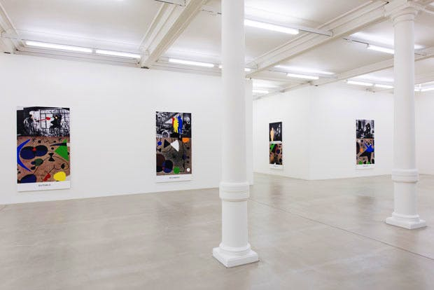 Installation view of 'John Baldessari: Miro and Life in General' at Marian Goodman Gallery, London. © John Baldessari. Courtesy the artist and Marian Goodman Gallery, New York, Paris & London. Photo: Thierry Bal