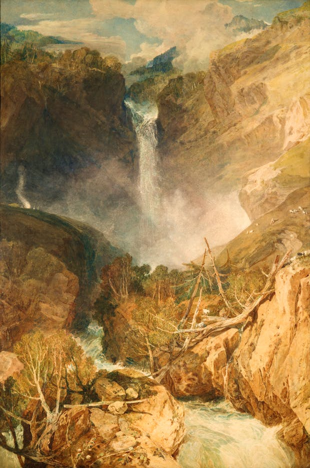 The Great Falls of the Reichenbach, (1804), J.M.W Turner.