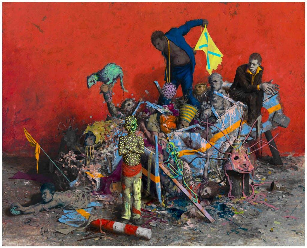 Stückfrass (2013), Jonas Burgert. Courtesy the artist and Blain Southern. Photo: Lepkowski Studios