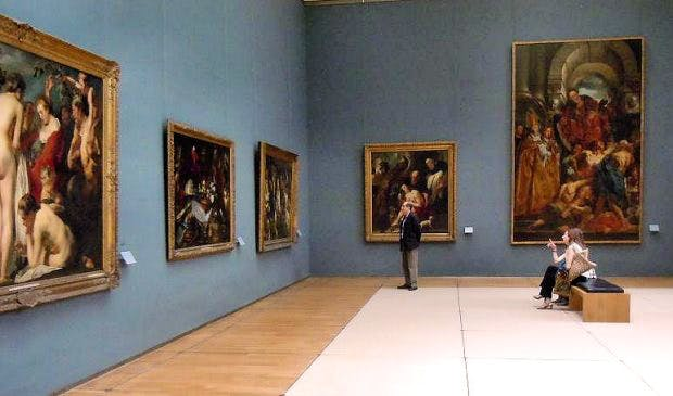 The Jacob Jordaens room at the Royal Museum of Fine Arts of Belgium.