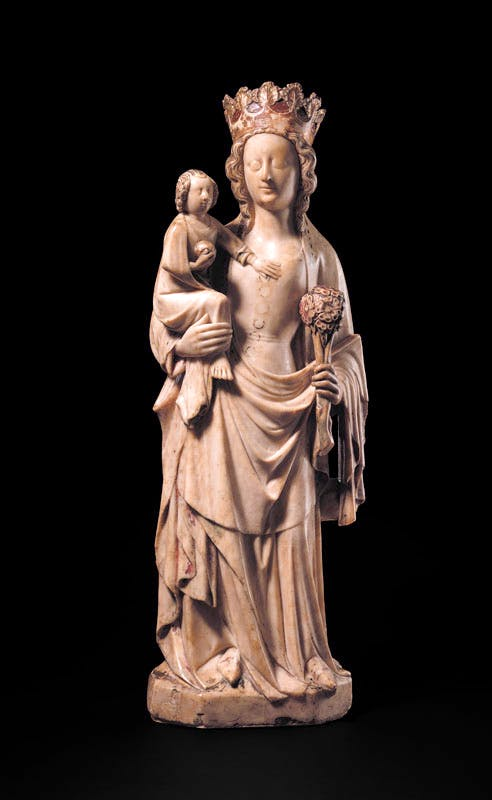 Alabaster Figure of the Virgin and Child, 14th Century. © The Trustees of the British Museum