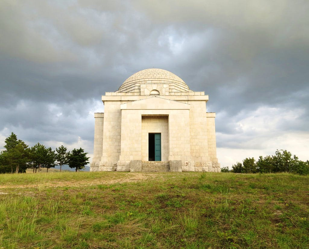 The Meštrovic family mausoleum in the Dalmatian village of Otavice, built by the architect in 1926–31. Photo: Roger Bowdle