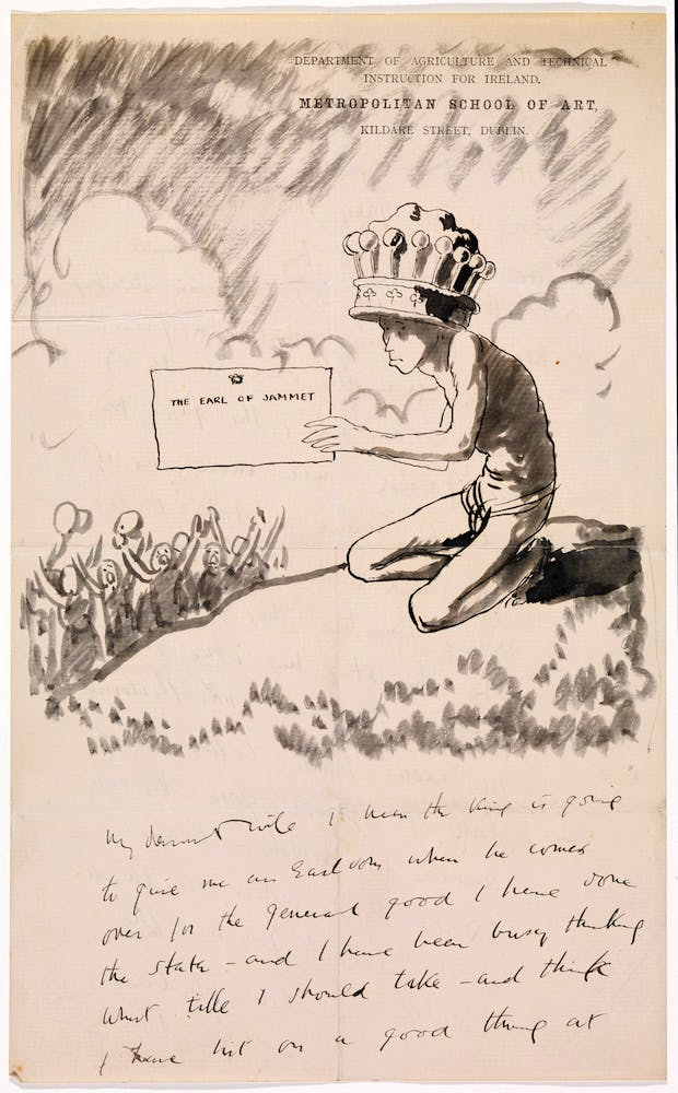 Illustrated letter by William Orpen. Photo © National Gallery of Ireland
