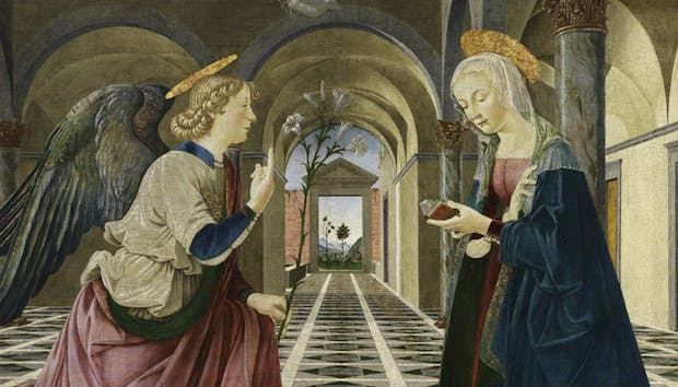 Detail of The Annunciation (c. 1487), Piermatteo d'Amelia. Courtesy of Isabella Stewart Gardner Museum, Boston